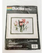 Bucilla Tulip Flowers Kit Crossstich Kit 9 x 12 Vintage 1990 Complete Se... - $34.62