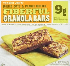 2 Boxes Trader Joe's Fiberful Granola Bars Rolled Oats & Peanut Butter 9... - $16.99