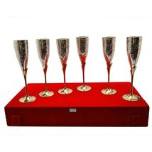 Silver Plated Royal Brass Wine Glass Set Of 6 - $139.00