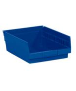 "NEW 20 Pack RetailSource 11 5/8"" x 8 3/8"" x 4"" Blue Plastic Shelf Bin Boxes - $170.90"