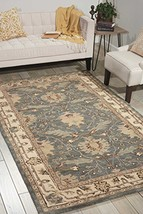 Nourison India House IH75 Blue Rectangle Area Rug, 2-Feet 6-Inches by 4-... - $52.94