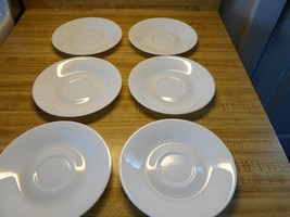 all white corelle saucers - $14.20
