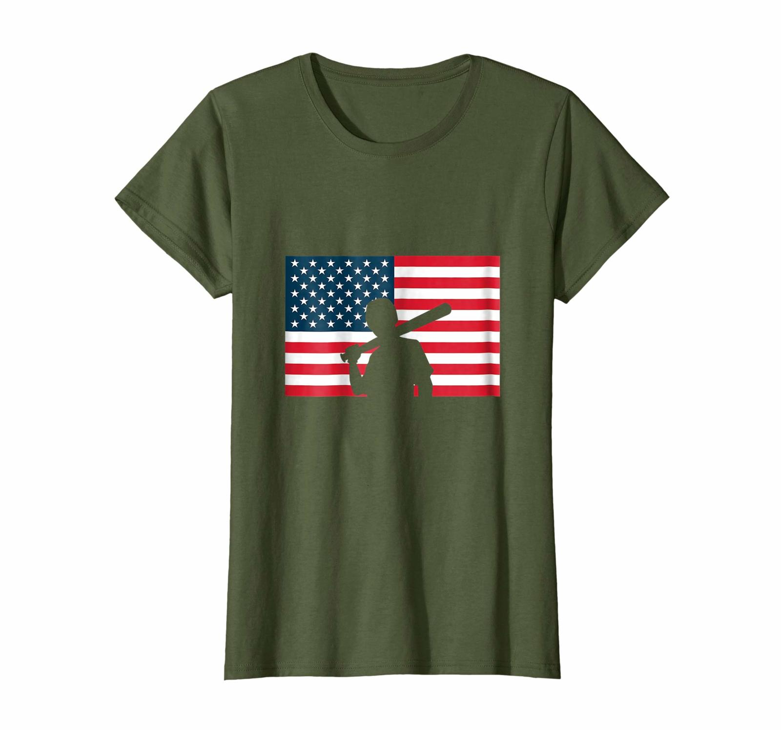 Primary image for New Shirts - american baseball News usa flag pride gift funny tshirt Wowen