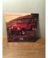 1997 Jeep Wrangler Teaser Intro Car Sales Brochure - $14.84