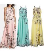 Hot Summer Women's Fashion Boho Long Maxi Dress Sleeveless Lady Beach Dr... - $28.80