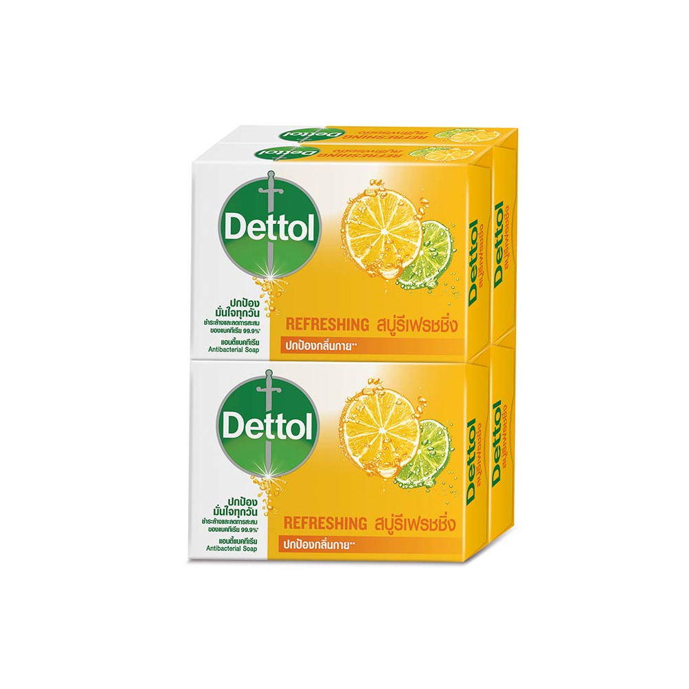 Primary image for DETTOL Refreshing Anti-Bacterial Bar Soap 65 g x 4 packs