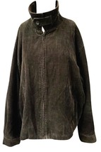 Womens St. Johns Bay Full Zip Brown Corduroy Jacket Sz Large - €32,44 EUR