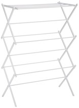 3 Tier Foldable White Drying Rack Organizer Laundry Storage for Hanging ... - £22.92 GBP