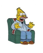 The Simpsons Grampa Figure Sitting In a Chair Embroidered Patch, NEW UNUSED - $9.74