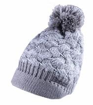 Bench Acrilico Grigio Bianco Clutch Donne con Visiera Pon Maglia Berretto Winter
