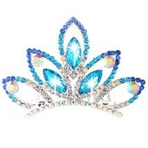 Nobel Plate Hair Comb Crystal Crown Bridal Headdress image 2