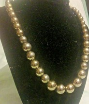 VINTAGE SIGNED MONET SILVER TONE SINGLE STRAND BEADED NECKLACE HOLIDAY N... - $14.45