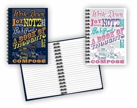 "Spiral Bound Notebook Set (2 Notepads Total) 8 1/2"" x 5 5/8"" - 80 Lined ... - $8.81"