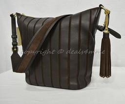 Michael Kors Brooklyn Applique Large Feed Bag/Hobo in Suede/Leather Coffee Brown - $339.00
