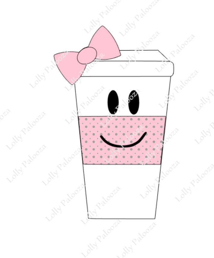 Coffee Cup DIGITAL File:  Instant Download. No Physical Product Will Be Shipped.