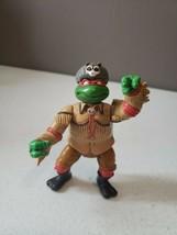 1992 Raphael Wear Racoon Hat Ninja Turtles TMNT Vintage Figure EUC - $18.74