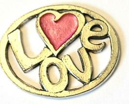 LOVE Fine Pewter Pendant Approx. 1-1/2 inches wide image 9