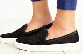 Sam Edelman Becker Size 10 Black Flats Pony Animal Hair Slip On Athletic Shoes  - $29.70