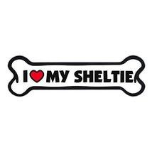 Refrigerator Magnet - Dog Bone Shape - I Love My Sheltie (Shetland Sheep... - $8.99