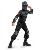 GI Joe Snake Eyes Classic Costume Halloween Dress Up Cosplay Small 4 - 6  - $6.92
