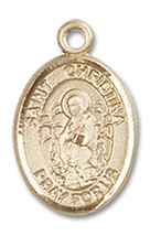 14K Gold St. Christina the Astonishing Medal 1/2 x 1/4 inch - $224.13