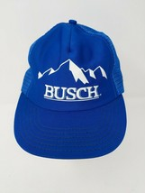 Busch Beer Mens Mesh Trucker Hat Cap Made in USA Snapback Big Logo VTG 7... - $29.69