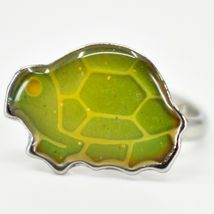Silver Tone Turtle Kid's Fashion Color Changing Fashion Adjustable Mood Ring image 3