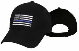 Thin Blue Line Police Memorial USA Hat Blue Lives Matter Black Cap Ameri... - £15.23 GBP