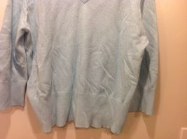 Faded Glory Originals Vintage V-Neck Baby Blue Long Sleeve Sweater image 3