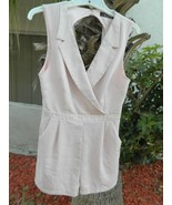 NWT Rehab Romper Pink Tuxedo Style Shorts with Back Cutout Sz M  - $23.19