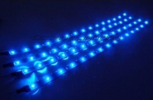 "Primary image for OCTANE LIGHTING 4-12"" Car Truck Bike Rv Boat 15 Blue Led Under Glow Waterproof L"