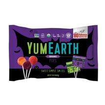 YUM EARTH 17.6oz^ 80pc Bag ORGANIC POPS Halloween LOLLIPOPS Candy VEGAN ... - $28.59