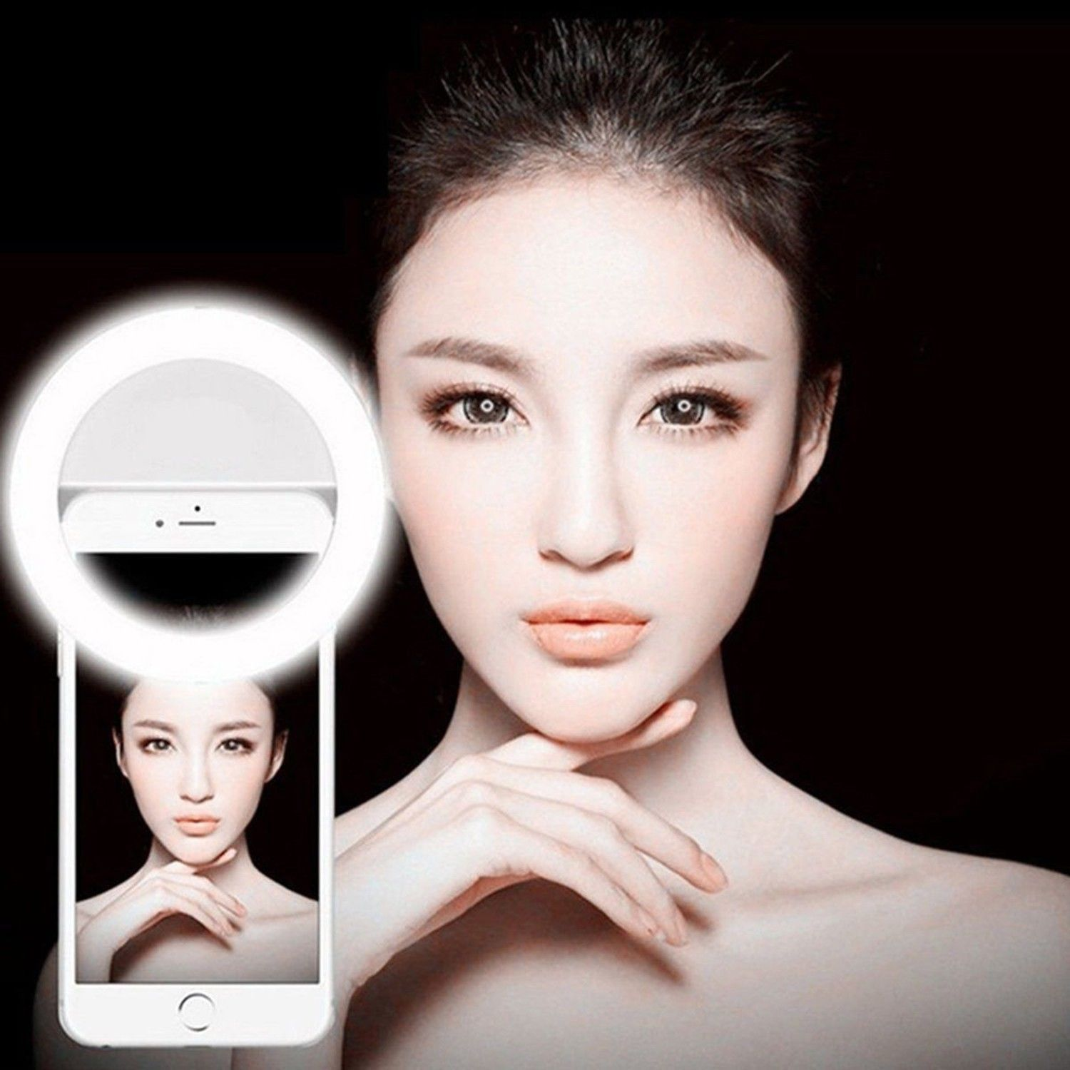 Selfie LED Ring Flash Fill Light Clip Camera For Phone For iPhone For Android