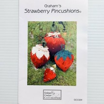 Grahams Strawberry Pincushions Pattern by Jan Vaine Graham Cracker Colle... - $7.99