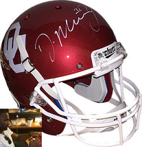 DeMarco Murray signed Oklahoma Sooners Schutt Full Size Replica Helmet #... - $174.95