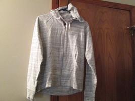 New Womens EDDIE BAUER Gray Hoodie Zip Up Sweatshirt Lightwear Jacket si... - $15.00