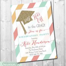 "Graduation Party Invitation...""Hats Off""/Class of 2018/printable/Digital... - $14.99"