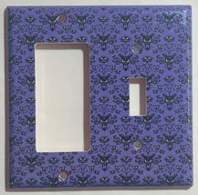 Haunted Mansion purple wallpaper Light Switch Outlet wall Cover Plate Home Decor image 7