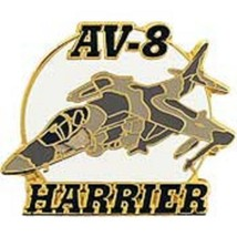 Usmc AV-8 Harrier Camo Jet Fighter Pin - $6.92