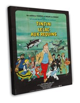 Tintin and the Lake of Sharks 1972 Vintage Movie FRAMED CANVAS Print  - $19.95+