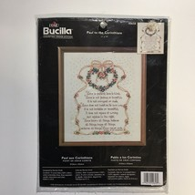Bucilla Paul to the Corinthians Religious Counted Cross Stitch Kit 40658... - $15.43