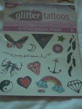 Savvi Glitter Tattoos - 29 Tattoos - Butterfly, Star, Feathers, Heart, R... - $3.75