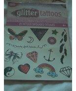 Savvi Glitter Tattoos - 29 Tattoos - Butterfly, Star, Feathers, Heart, R... - $3.79