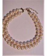 RARE Avon Bold Baroque Pearlesque Double Strand Necklace NIB - $44.55