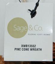 Sage Company XWB13552 Pine Cone Wreath 13 Inches Across image 4