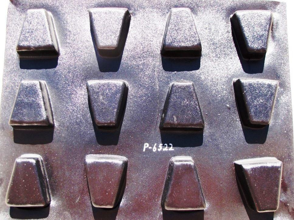 """DIY 6"""" Keystone Concrete Cobble Molds #P6522-12 Make 1000s Pavers For Pennies Ea"""