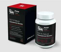 Prime Male Testosterone Booster 120 Capsules FREE SHIPPING 100% natural  - $49.99
