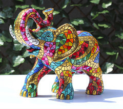 Barcino Carnival Large Elephant Sculpture Hand Painted New brand from Spain - $15.218,73 MXN
