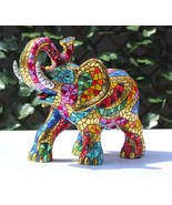 Barcino Carnival Large Elephant Sculpture Hand Painted New brand from Spain - $687.06