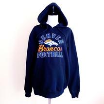 NWT New Denver Broncos NFL Football Hoodie Sweatshirt Black Medium - $33.74